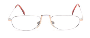 Metal reading glasses in silver with gold for men