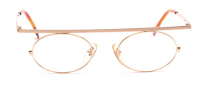 Men's frame in matte gold with shiny gold combined with a distinctive top bar