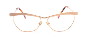 High quality eyeglass frame in gold with matt gold combined in the butterfly style of T-Look