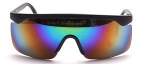 Sporty cool panorama sunglasses, unisex