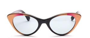 Hübsche Damen Retro Sonnenbrille in Schmetterlingsform