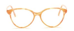 Schmetterlingsbrille für Damen in Braun Transparent mit Hellbraun gemustert