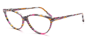 Wild gemusterte Cat Eye Brille für Damen