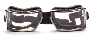 Motorcycle goggles in the old style of Richthofen glasses modeled after