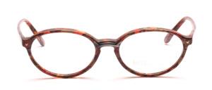 Ovale Damenfassung aus den 80er Jahren in Brauntönen gemustert