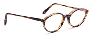 Ovale Damenfassung aus den 80er Jahren in Braun gemustert