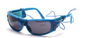 Kinder Sport Sonnenbrille mit echtem Leder Seiten-und Nasenschutz