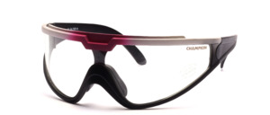 Winschutz - Sportbrille mit klaren Panorama Scheiben