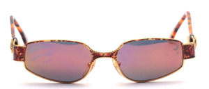 Noble metal design sunglasses in gold and mottled brown