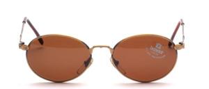 Hochwertige, schön und schlichte Damen Sonnenbrille in Antikgold