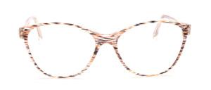 80er Jahre Butterfly Brille für Damen in Transparent mit einem feinen braunen Muster