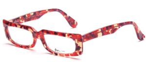 Retro 60er Jahre Acetatfassung in Transparent, schön gemustert in Rot und Lila
