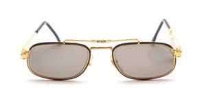 Hochwertige, etwas flachere modische Metall Sonnenbrille in aufwendiger Detailarbeit