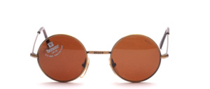 High quality, classically crafted round metal sunglasses in children or youth size