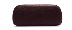 Fine leather case from the 50s in dark red with a fine structure
