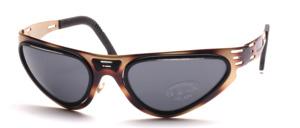 Coole sportliche Metall Sonnenbrille mit Plastic Inlay