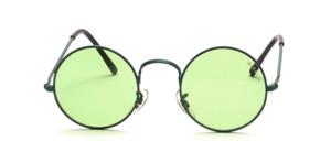Klassisch runde Metall- Sonnenbrille mit Nasen Pads