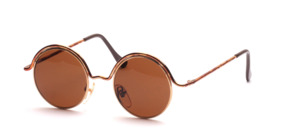 Beautiful round fancy metal sunglasses