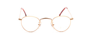 Small matte Frame in matt gold with chased rim and extra long temples