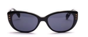 Größere Damen Sonnenbrille mit 3 goldenen Nieten auf jeder Seite