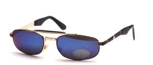 Flache, breite coole  Herren Metall Sonnenbrille mit Stirnbügel