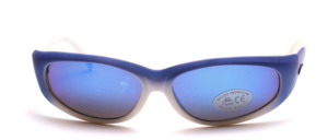 Sporty, slightly curved unisex sunglasses with golden Kappa logos on the temples