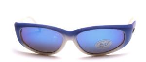 Sportlich, leicht gekurvte unisex Sonnenbrille mit goldenen Kappa Logos an den Bügeln