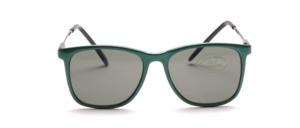 Children's sunglasses in green with a slight sheen effect