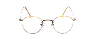 Small mock Frame in antique gold with chased rim and extra long temples