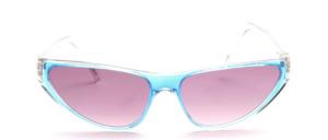Dynamisch geformte Sonnenbrille in leichter Schmetterlingsform