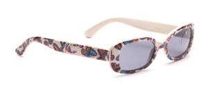 Pretty children's sunglasses printed with colorful butterflies