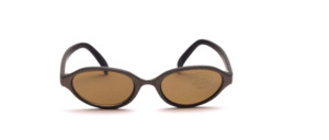 Children's sunglasses in brown with black mesh structure