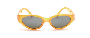 Orange children's sunglasses with gray lenses