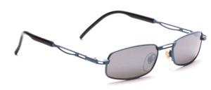 Metall Sonnenbrille in matt Blau mit grauen Scheiben