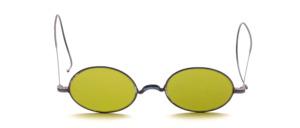 Schubertbrille der Jahrhundertwende mit Gespinstbügeln