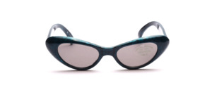 Blue-black marbled sunglasses in cat eye shape for toddlers