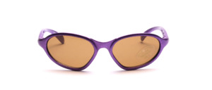 Children's sunglasses in purple with brown lenses