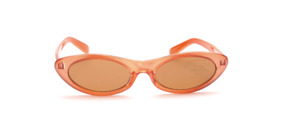 Children's sunglasses in apricot with brown lenses