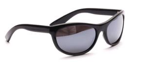 Sportliche 80er Jahre Sonnenbrille in Schwarz