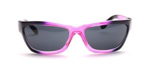 Sporty 80s sunglasses in purple transparent with black