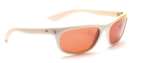Sporty 80s sunglasses in white with yellow