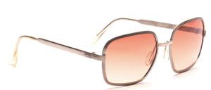 70er Jahre Metall Sonnenbrille in silber mit Braun Verlauf Scheiben