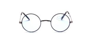 Runde Metall Sonnenbrille in Antiksilber mit hellblauen Scheiben