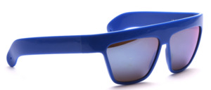 Vintage IDC sunglasses from the 80s in blue with blue mirrored lenses