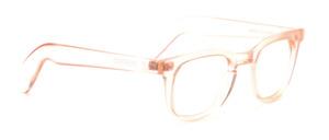 Hautfarbene Kunststoffbrille im Retro 60er Jahre Stil für Herren