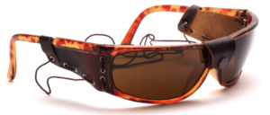 Havana brown sunglasses with side protection and elastic