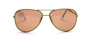 Pilot Sonnenbrille er späten 70er Jahre aus Metall in Hellgrün lackiert
