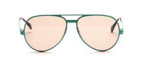 Vintage Pilot Sonnenbrille aus den späten 70er Jahren aus Metall in schillernd Grün lackiert