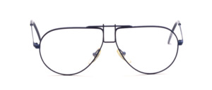 Classic pilot frame with a rectangular bridge painted in dark blue