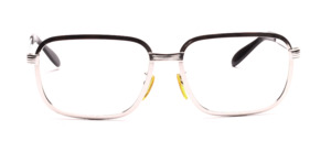 Oversize vintage 70s metal frame for men in silver